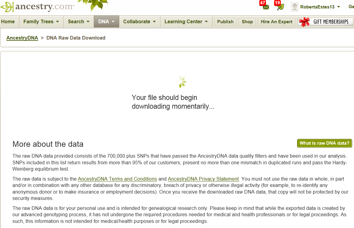 Downloading Ancestry's Autosomal DNA Raw Data File | DNAeXplained