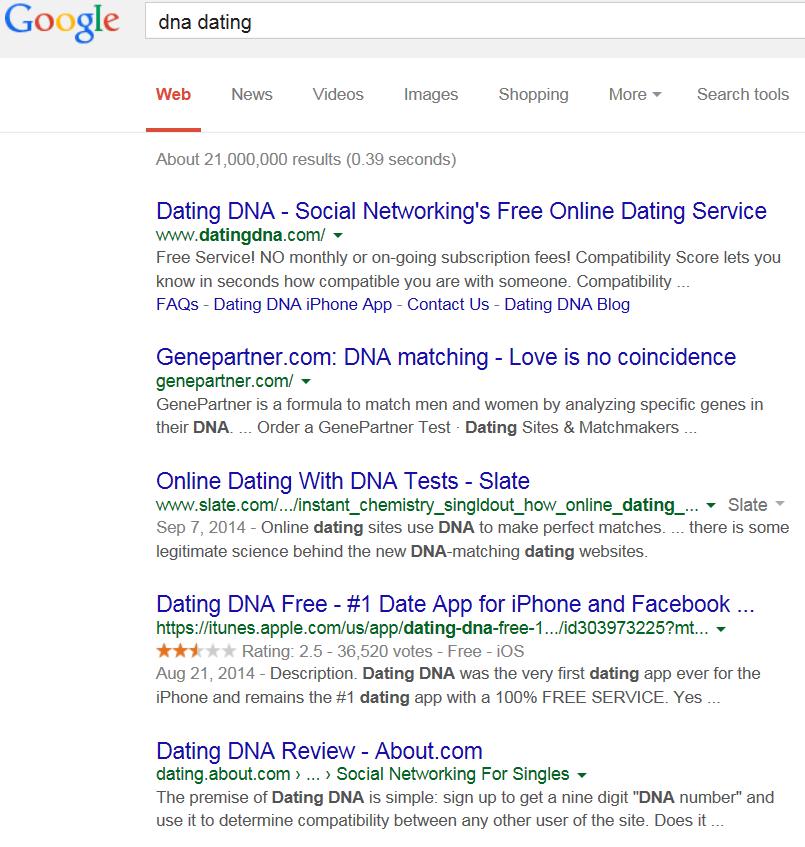Online dating test 2014